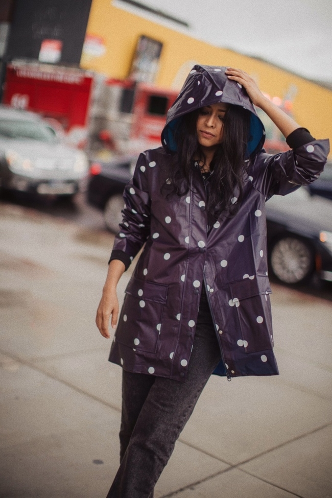 Shop the latest @walkinwonderland in LOFT, Polka Dot Raincoat