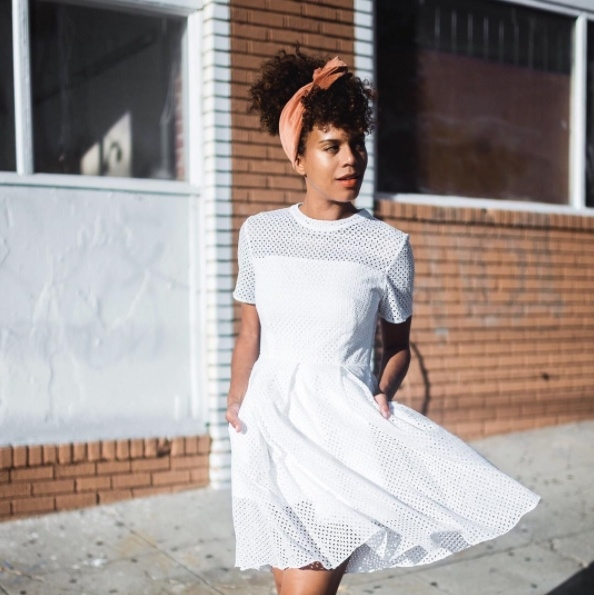 Shop the latest @grasiemercedes in , English Factory Mock Neck Eyelet Dress