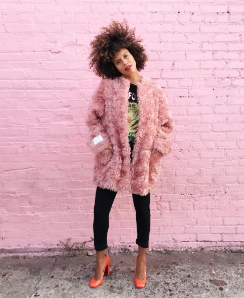 Shop the latest @grasiemercedes in , Wool Blend Fur Free Fur 3/4 Coat