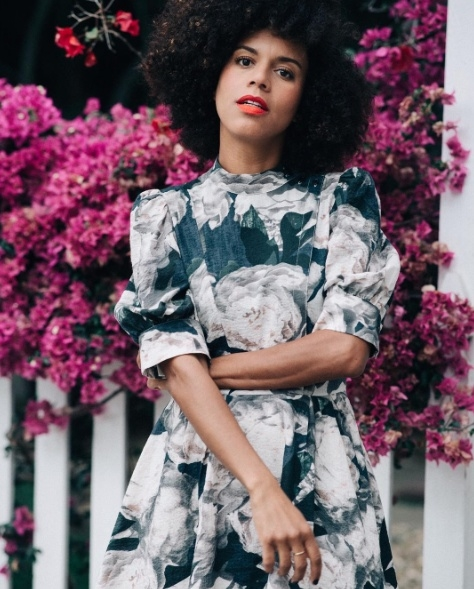 Shop the latest @grasiemercedes in , H&M Patterned Satin Dress