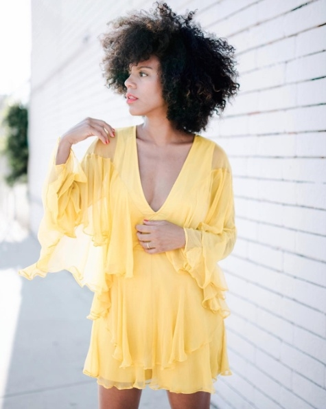 Shop the latest @grasiemercedes in , Honey Punch Marigold Butterfly Romper