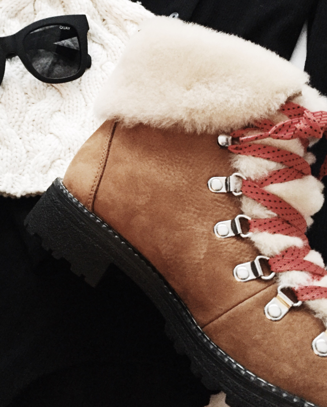 Shop the latest @a.bridgefarmer in J. CREW, Women's J.crew Nordic Genuine Shearling Cuff Winter Boot
