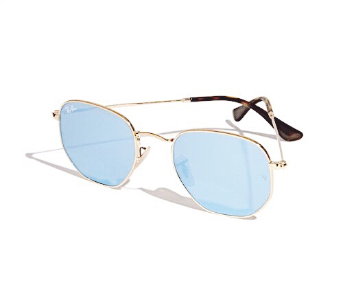 Shop the latest @a.bridgefarmer in Ray-ban, Ray-Ban Icons Hexagonal Polarized Sunglasses, 50mm