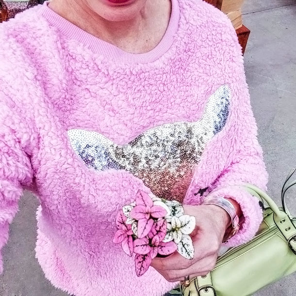 Shop the latest @jtouchofstyle in PrettyLittleThing, Sequin Sleeve Sweater - Pink