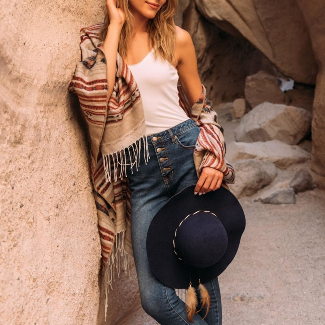 Shop the latest @stylelink.it in Francesca's, Chelsea Aztec Band Panama Hat - Camel