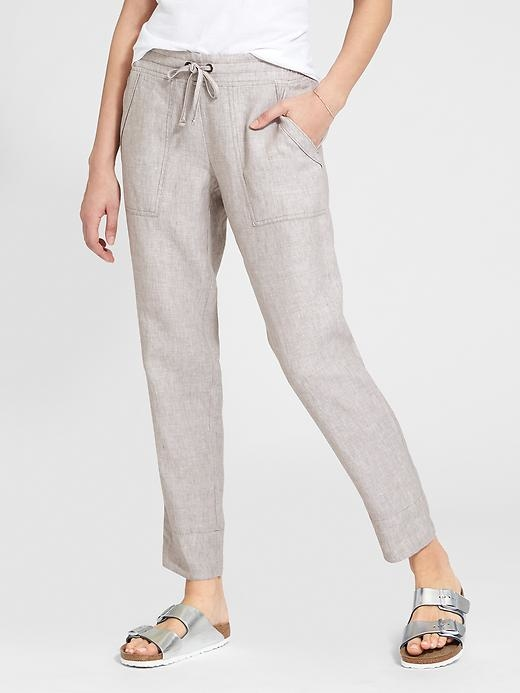 Womens Linen Ankle Pant Size 6 - On the rocks heather by Athleta