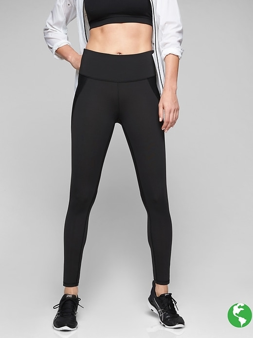 Womens Stealth Tight Size S Tall - Black by Athleta