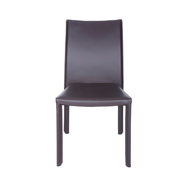 Ebba Stacking Chair in Brown (Set of 4) by Euro Style
