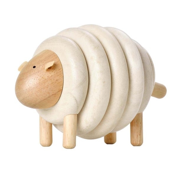 Lacing Sheep Learning Toy by Plan Toys