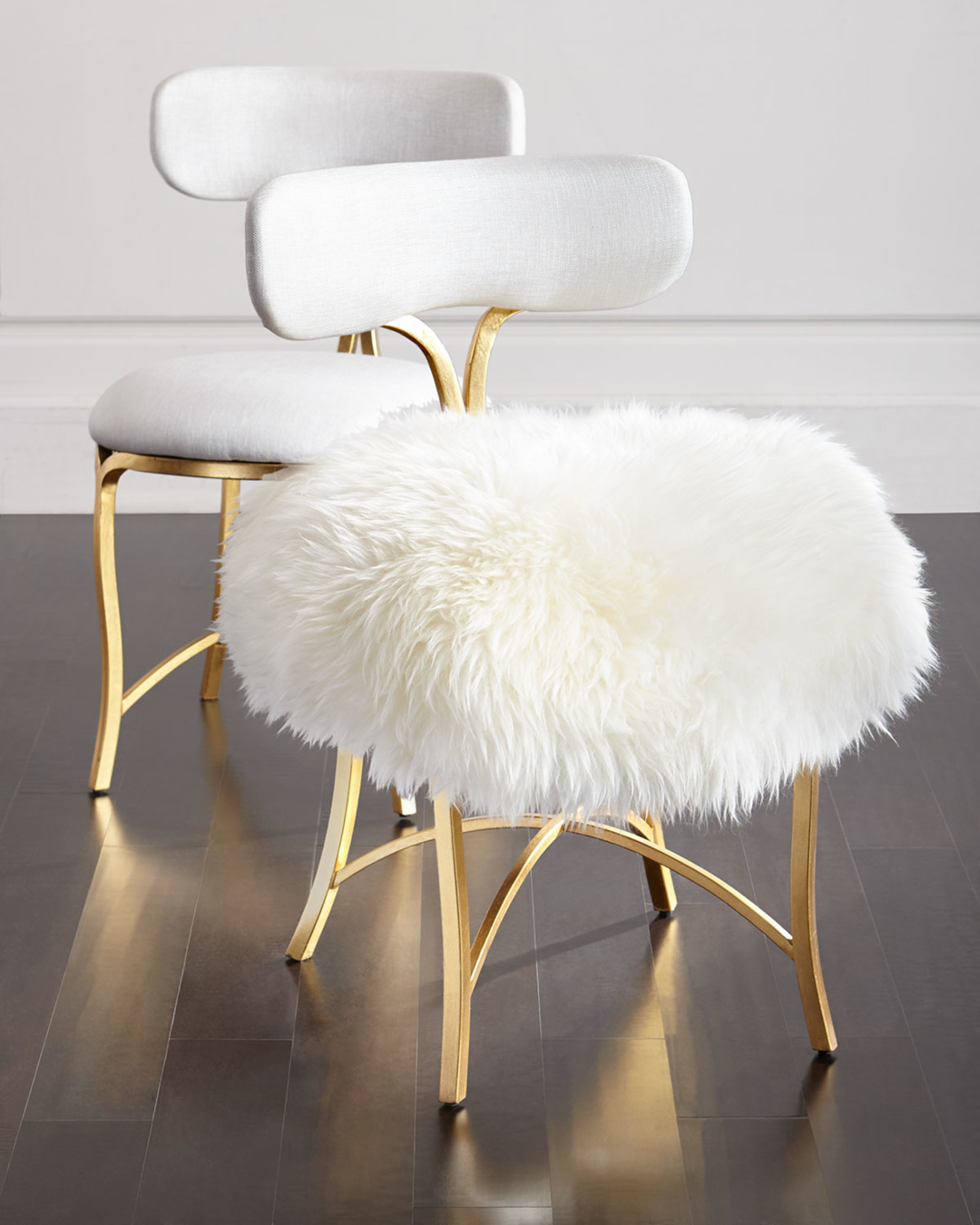 Swanson Sheepskin Side Chair by Cynthia Rowley for Hooker Furniture