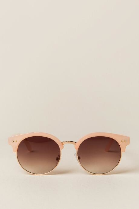 Airdale New Classic Sunglasses - Nude by francesca's