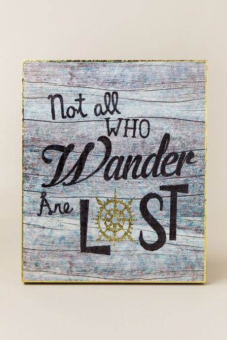 Not All Who Wander Are Lost Wall Decor by NATURAL LIFE