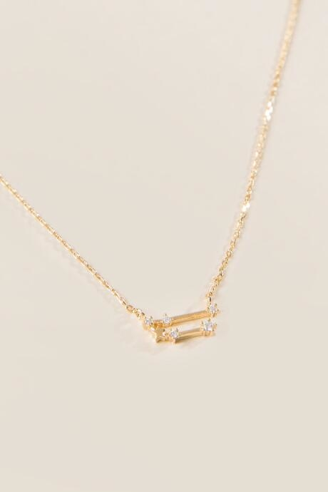 Taurus Constellation Pendant in Gold - Gold by francesca's