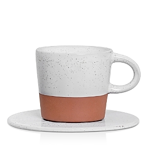 Terra Cotta Evelyse Mug with Saucer by Bloomingville
