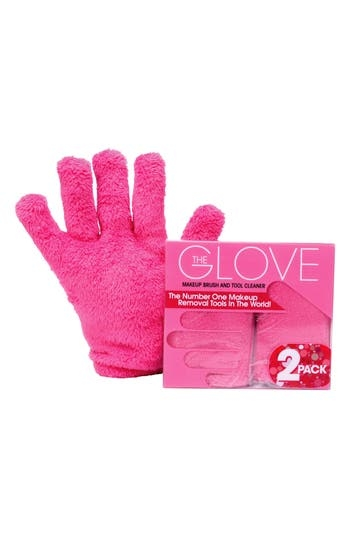 What it is: A glove that makes it easy to clean your makeup brushes and tools with just water. What it does: This reusable and washable glove helps to prolong the life of your brushes and tools with regular cleaning. It lasts for 3-5 years, too. How to use: Clean and condition your makeup brushes with just water. Simply wet your gloves and rub in a circular motion. Follow up with vertical and horizontal swipes to completely erase all makeup from your brushes. Style Name: Makeup Eraser 2-Pack The Glove Makeup Brush And Tool Cleaner. Style Number: 5603800. Available in stores.