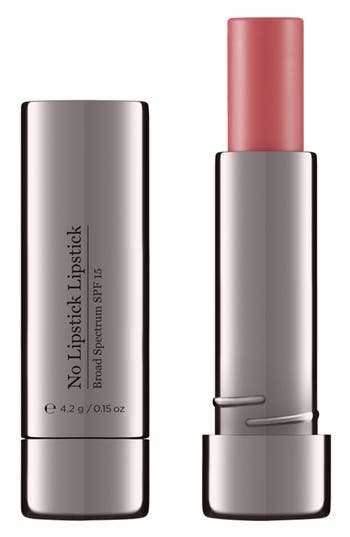 What it is: An anti-aging lip treatment with SPF 15 designed to enhance lip contours and mimic the natural rosy color of youthful lips. Who it's for: Anyone looking for a no-makeup look plus skin care benefits. What it does: It restores the natural rosy color of youthful lips while deeply nourishing and conditioning. Neuropeptides smooth vertical lip lines, while the solid-to-serum texture allows for sheer, buildable coverage. How to use: Apply generously and evenly over the lip area. Reapply throughout the day as desired. Style Name: Perricone Md No Lipstick Lipstick Spf 15. Style Number: 5068523. Available in stores.