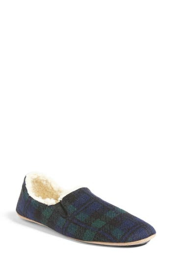 High-pile fleece lines these wool-infused, low-profile slippers in a classic plaid pattern. Style Name: Pendleton Black Watch Plaid Nomad Slippers. Style Number: 5452693. Available in stores.