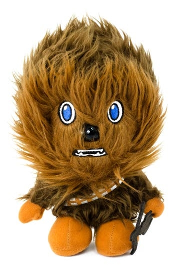 In addition to holographic chess, let the Wookiee win your heart with this adorable plush Chewbacca that makes a realistic growling sound. Style Name: Underground Toys Star Wars Chewbacca Stuffed Toy. Style Number: 5515384. Available in stores.