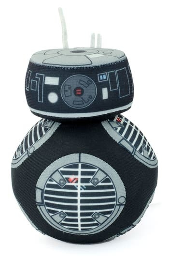Bring a bit of Star Wars: The Last Jedi home with an adorable plush version of BB-8's less agreeable counterpart, BB-9E. When squeezed, the Imperial astromech droid emits a series of beeps and whistles to delight fans of all ages. Style Name: Underground Toys Star Wars Bb-9E Stuffed Toy. Style Number: 5515385. Available in stores.