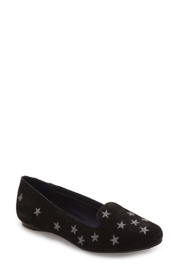 Embroidered stars bespangle the toe and side of this classic suede loafer set on a padded footbed for cushiony comfort. Style Name: Jack Rogers Starstuck Loafer (Women). Style Number: 5228631. Available in stores.