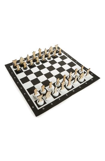 Made from weather-resistant materials so it's perfect for playing outdoors as well as indoors, this exploded-scale chess game is perfect for building strategy skills. Style Name: Bs Toys Xl Indoor/outdoor Chess Game. Style Number: 5634156. Available in stores.