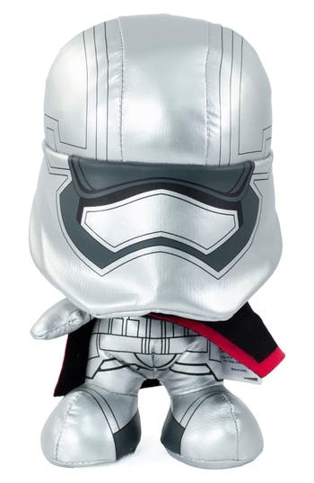 Small stature can't diminish the suave style of Captain Phasma and her iconic silver armour, presented in a plush version that utters one of three catchphrases when squeezed. Style Name: Underground Toys Star Wars Captain Phasma Stuffed Toy. Style Number: 5515383. Available in stores.