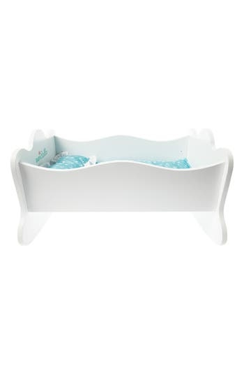 This high-quality wooden cradle lets your little one rock Baby Stella or other similarly sized dollies to sleep, and features a pretty lace-trimmed pillow and bedding. Style Name: Mahattan Toy Baby Stella Wooden Rock-A-Bye Doll Cradle. Style Number: 5340485. Available in stores.