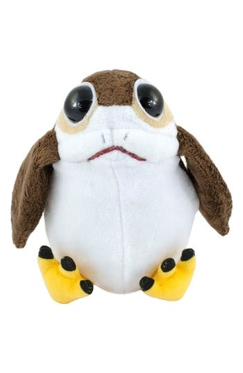 A scene-stealing critter from Star Wars: The Last Jedi gets even cuter with this adorable plush version that emits realistic sounds when squeezed. Style Name: Underground Toys Star Wars Porg Stuffed Toy. Style Number: 5515386. Available in stores.