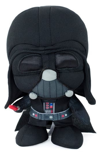 Even the power of the Dark Side is no match for the cuteness of this miniature plush Sith Lord. Squeeze his belly (if you dare) to hear the notorious respirator mask sound that strikes fear into the hearts of Rebel fighters and incompetent Imperial officers alike. Style Name: Underground Toys Star Wars Darth Vader Stuffed Toy. Style Number: 5515382. Available in stores.