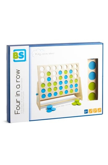 A classic game built from wood with colorful discs develops strategic and logical skills as you try to get four of the same in a row by outsmarting your opponent. Style Name: Bs Toys Four In A Row Game. Style Number: 5634155. Available in stores.