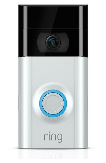 No longer do you need to peek through the blinds or peephole when someone comes ringing your doorbell. You don't even have to be home. This intuitive, video-enabled doorbell streams live 1080p HD video straight to your smart device with a 160-degree view of whoever is standing on your welcome mat, as well as offering two-way noise-canceling audio, motion tracking, alerts and night vision when you're safeguarding against theft and burglary. Style Name: Ring Video Doorbell 2. Style Number: 5468845. Available in stores.
