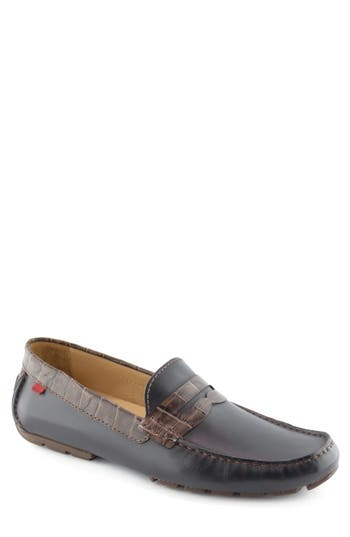 A moc-stitched toe and rich, grainy leather make this handmade penny loafer a professional-grade go-to style. Style Name: Marc Joseph New York 'Union Street' Penny Loafer (Men). Style Number: 5163738 3. Available in stores.