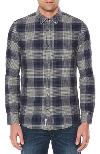 A mini-houndstooth pattern polishes the checks of this brushed-cotton flannel shirt that's as ready to handle casual Fridays as it is casual weekends. Style Name: Original Penguin Brush Flannel Shirt. Style Number: 5456124. Available in stores.