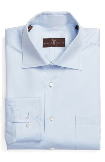 Mitered long sleeves and a spread collar profile a handsome dress shirt shirt crafted from soft and durable cotton twill in a classic fit. Style Name: Robert Talbott Classic Fit Dress Shirt. Style Number: 5448102. Available in stores.
