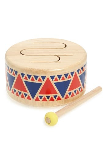 A colorful triangle pattern brightens the fun of beating this child-size rubberwood drum that includes an easy-to-hold mallet. Style Name: Plan Toys 2-Piece Drum Set. Style Number: 5632296. Available in stores.