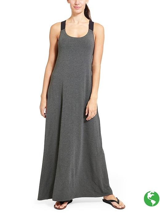 Unbelievably soft and feel-good MicroModal jersey feels dreamy in this relaxed-fitting maxi dress with wide v-back straps and built-in support.