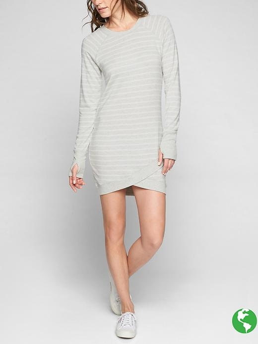 We loved the Criss Cross Sweatshirt so much, we figured, why not make it a dress so we can literally throw on a sweatshirt and call it a day.