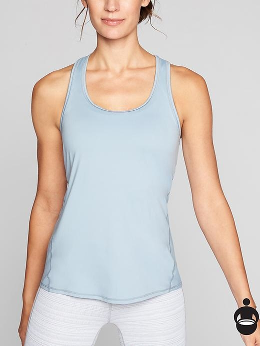 Our signature, ultra-lightweight tank with Unstinkable technology so you can sweat it out in back-to-back workouts.