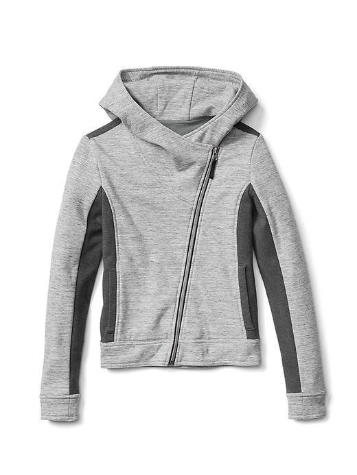 Set your style free with this asymmetrical, cozy jacket.