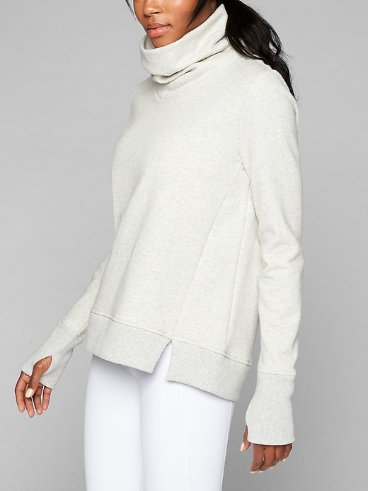 Fleece is back in fashion with this funnel-neck pullover design that's made from  our breathable, plush Modern Mantra fabric.