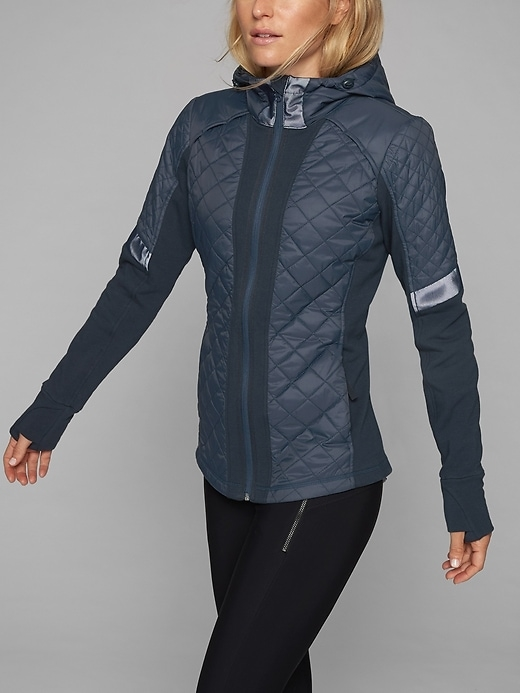 The cold-weather jacket with zoned insulation where we need it, stretch panels where we want it and reflective details to keep it urban.