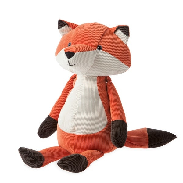 Create a nursery full of wildlife by adding this Folky Foresters fox plush toy from Manhattan Toy. Small weights are placed at the bottom of the toy so it always sits up, making it great for display.    Made from corduroy fabric for softness  Bottom is weighted to ensure that fox sits without tipping  Constructed with durability in mind for years of use  Recommended for all ages, but suitable for birth to 12 months  Measures 9 inches tall when sitting