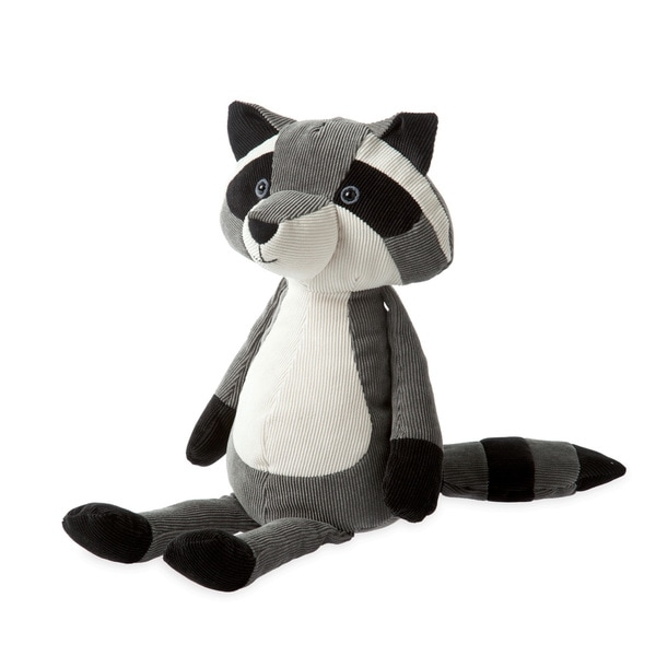 Bring home a new cuddly friend to the special child in your life with this raccoon plush toy. Rest assured that this toy is built to stand the test of time with its corduroy construction that is surface washable.    Provide snuggle joy to your favorite child with this raccoon plush toy  Clean and care for this plush toy by surface washing it  Educational raccoon toy is crafted from high-quality corduroy  Plush toy features weighted pellets in its bottom so it sits up  Suitable for children ages birth to 12 months  Toy measures 9 inches tall when seated