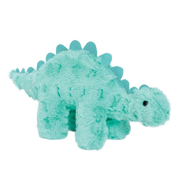 Introduce this Chomp plush toy from the Little Jurassics collection by Manhattan Toy to your child. Featuring an ultra-soft fabric construction, Chomp the dinosaur makes a delightful addition to your little one's toy collection.    Chomp's weighted legs keep him standing  Silky texture and vivid color  Durably constructed to provide years of love and play  Suitable for all ages  Surface wash only  Measures 7 inches high x 15 inches wide x 4 inches deep