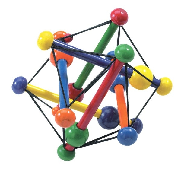 The bright, contemporary colors of the Skwish Classic and its one of a kind shape instantly captures baby's attention. The lightweight wooden dowels, smooth finish and elastic ties make it easy for little hands to grab and hold. Babies will love 'skwishing' it down and watching it return to its original shape . Skwish is a perfect clutching toy for developing gross motor skills. The beads slide back and forth along the dowels when shaken, producing a very pleasing rattle and allowing baby to explore sound and learn cause and effect. Skwish is carefully constructed of sustainable wood and features a non-toxic, water based finish. Classic, multi-sensory clutching rattle encourages grasping and reaching which are important for gross motor skills. Skwish is easy for little hands to grab and hold on to while rattling the beads that slide back and forth on dowels. Wood construction with elastic ties allow rattle and teether to flatten, or 'Skwish' and always return to its original shape. Carefully constructed of sustainable wood with a non-toxic, water based finish. Skwish rattles and teethers from Manhattan Toy have been an awarding winning favorite of both babies and parents for over 30 years.      Age: Birth 12 Months  Gender: Unisex  Material: Plastic  Color: Multi