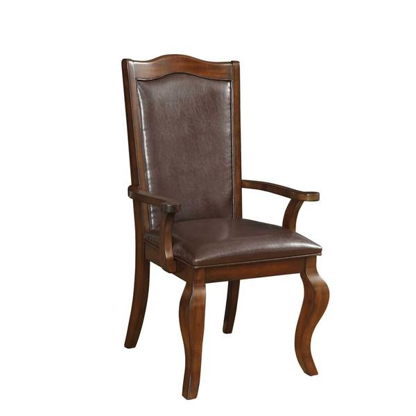 Dining chairs        Chair Type: Arm Chairs   Material: Wood   Assembly: Assembly Required   Set Size: Set of 2   Finish: Cherry Finish   Color: Red  24.25 inches long x 25 inches wide x 42 inches high            Assembly Required