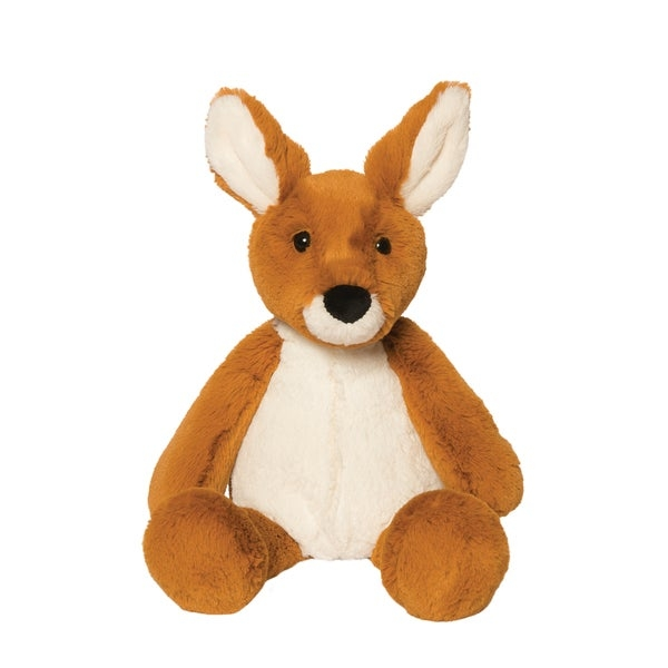 Lounge in your home while snuggling this Manhattan Toy Lovelies plush toy. The bottom is weighted with pellets to keep the toy upright and stable on the floor.         Age: Birth - 12 Months