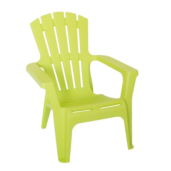 Add a bit of classic style to your backyard or outdoor living space with the Maryland Adirondack chair. Made from commercial-grade polypropylene with a bright green color that will give your space a contemporary coastal vibe. The chair is waterproof and fade-resistant for up to five years.   Features:    Adirondack chair  Water-resistant  Fade proof  Made of polypropylene  Green color  Made in Italy  Measures 29 inches long x 31 inches wide x 35 inches high