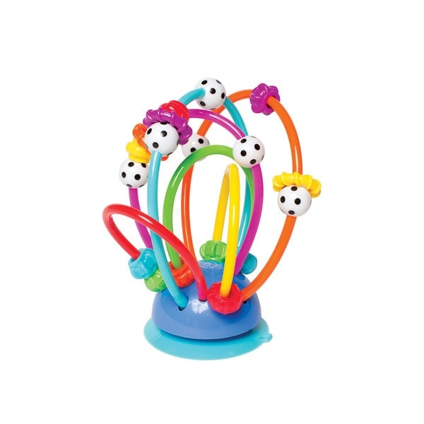 Boost hand-eye coordination with the help of this Manhattan Toy activity loops development toy. Sliding rings, black-and-white beads, and pliable plastic tubing makes this toy a great choice developing necessary motor skills.    Age: 2 - 4 Years  Gender: Unisex  Material: Plastic  Color: Multi