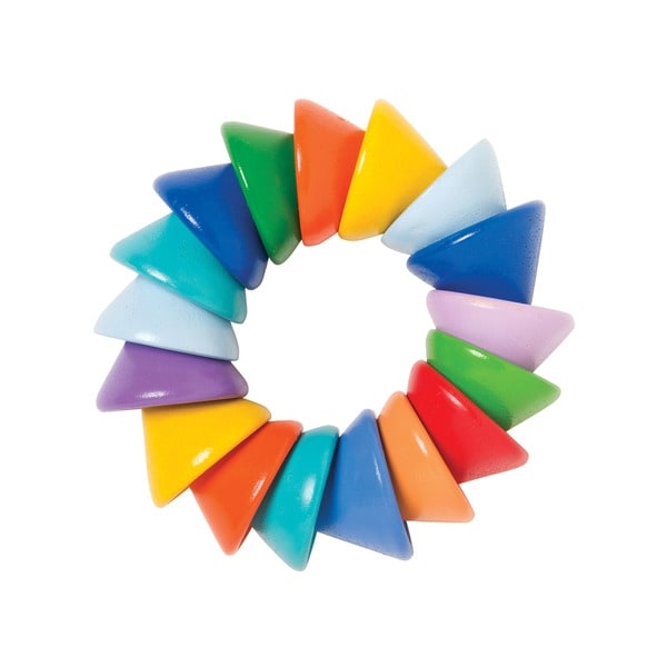 Indulge your teething baby with this Baby Cones teether toy. This colorful infant toy attracts your child's interest and features soft edges to prevent injury.    Age: 2 - 4 Years  Gender: Unisex  Material: Plastic  Color: Multi